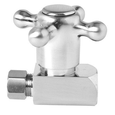 (Straight Valve with Quarter turn ceramic cartridge Finish: Polished Copper)