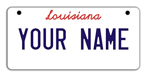 - BleuReign(TM Personalized Custom Name Louisiana State Motorcycle Moped Golf Cart License Plate Auto Tag