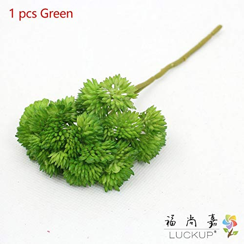LUCKUP 3ピース カラフル 人工プラスチック 植物 草 ブッシュ ホームデコレーション ギフト F489 グリーン B07H955BST グリーン