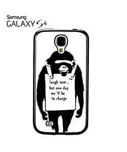 Banksy Monkey Laugh Now Revolution Cell Phone Case Samsung Galaxy S4 Black