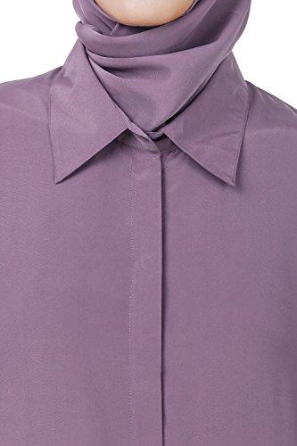 MyBatua púrpura crepe abaya simple musulmanes formal, casual desgaste maxi vestido AY-564