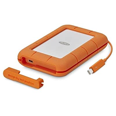 LaCie 5TB Rugged Thunderbolt / USB-C Mobile External Hard Drive, 130MB/s Transfer Rate by Lacie