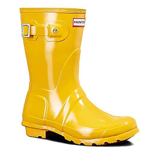 - Hunter Womens Original Tall Gloss Waterproof Rubber Rain Boot Wellington - Yellow - 6
