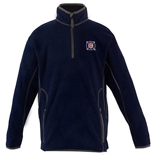 Antigua Fleece Micro Pullover - Antigua Chicago Fire Youth Pullover Jacket (YTH (14-16))