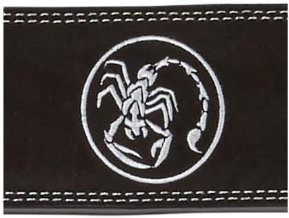 Scorpion Power Lifting Cintur/ón Musculaci/ón para Halterofilia Gimnasio Cintur/ón Cuero Peso Musculacion 10 mm de Grosor x 100 mm de Ancho