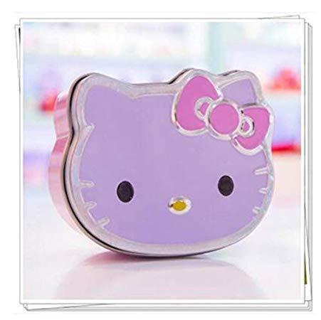 Unknown 1Pc Cute Kawaii Hello Kitty Mini Tin Plate Stationery Candy Box Desktop Storage Decor School Office Supply Clip Case Zakka -