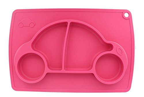 Ez Mat (Car Silicone Baby Placemat - Square - Pink)