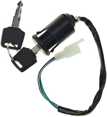 WOOSTAR Cerradura de llave de encendido para scooter el/éctrico 2 cables