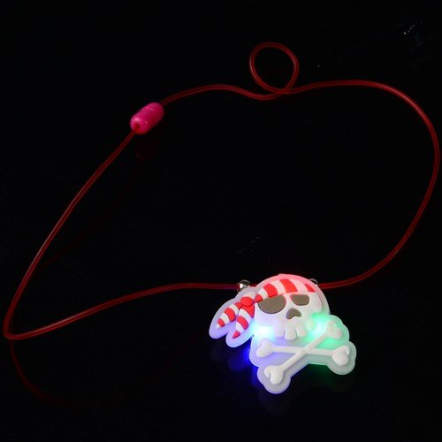 LIGHT UP PIRATE NECKLACES, SOLD BY 5 DOZENS - Light Up Pirate Necklace