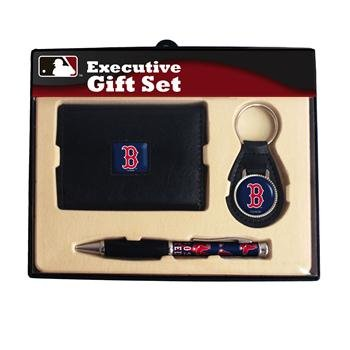 (MLB Boston Red Sox Executive Wallet, Key Fob & Pen Gift Set)
