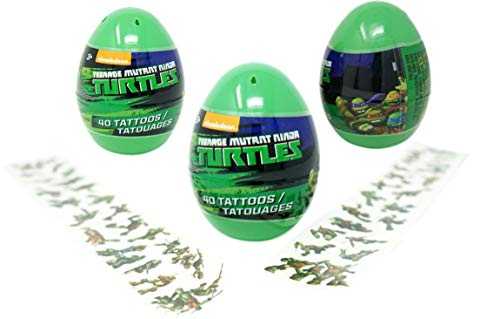 (Teenage Mutant Ninja Turtles Eggs with Temporary Tattoos (3 Pack) - 40 Tattoos Each, 4.5 Inches Tall Easter Party)
