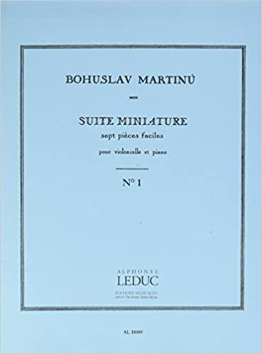 SUITE MINIATURE PIECE N01 VIOLONCELLE ET PIANO
