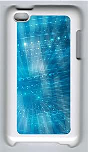 iPod 4 Case, iPod 4 Cases - patterns abstract parallax blue39 PC Polycarbonate Hard Case Back Cover for iPod 4¨CWhite