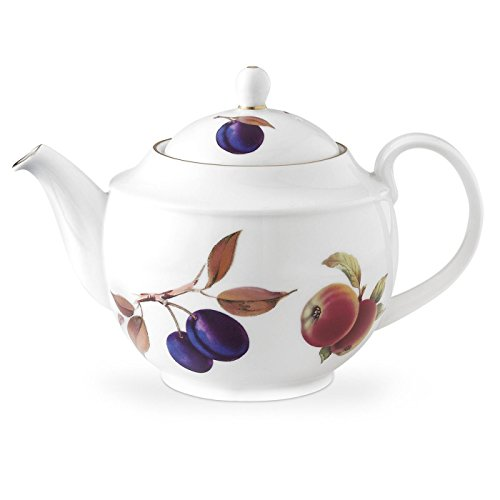 - Royal Worcester Evesham Gold Porcelain Teapot and Cover