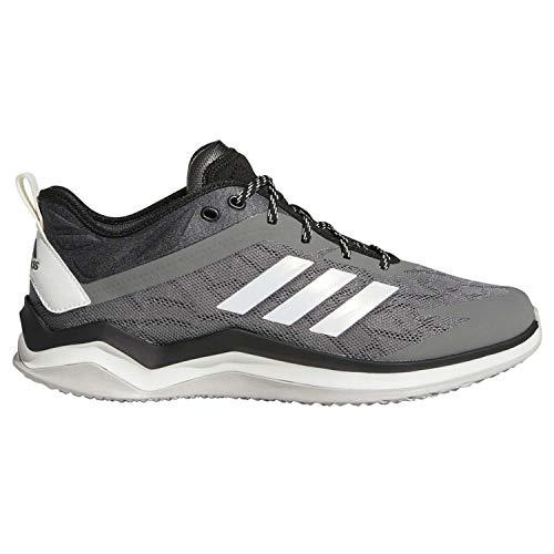 adidas Men's Speed Trainer 4 Baseball Shoe, Grey/Crystal White/Black, 10.5 M US