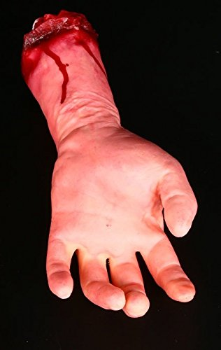 Zytree(TM) Scary Toys for Party Bloody Fake Body Part Realistic Severed Arm Hand Walking Dead Halloween Prop]()