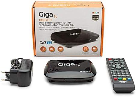 TDT GIGA TV HD270 T HD (GTV-270-0) Part Number: GTV-270-0: Amazon.es: Electrónica