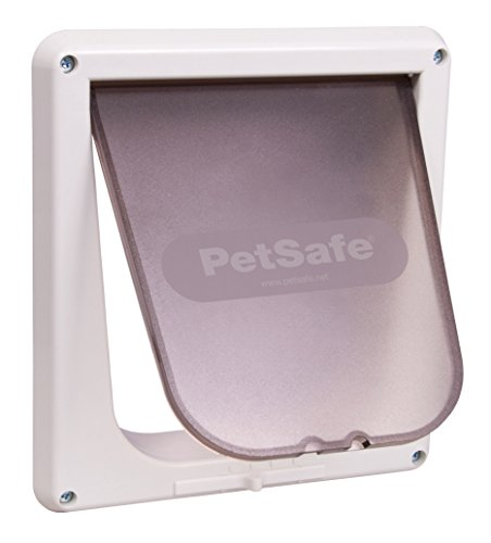 (PetSafe Interior 4-Way Locking Cat Door, White)