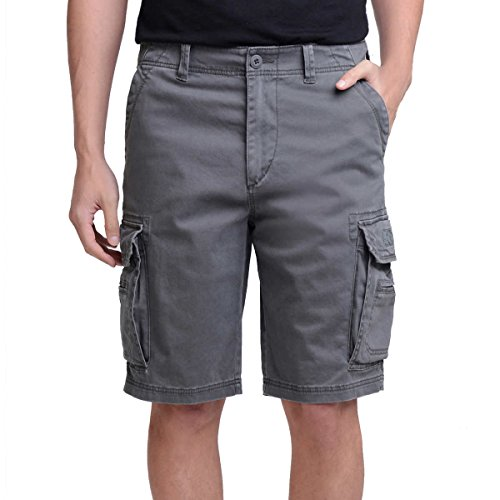 UNIONBAY Men's Wyatt Stretch Cargo Short (Gray, 34) by UNIONBAY