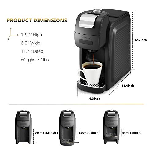 ODA Single Serve Coffee Maker Programmable with Removable Compatible with The 6 oz Brew Travel,