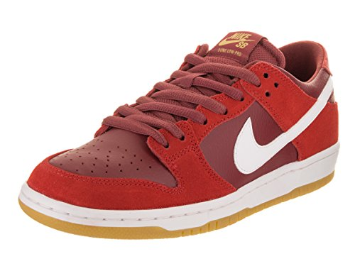 Nike Men's SB Zoom Dunk Low Pro Track Red/White Cedar Skate Shoe 10 Men US