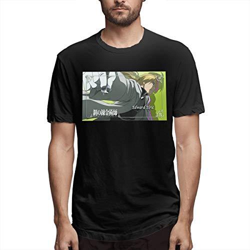 Fnh Fullmetal Alchemist Anime Elric Edward Men's T-Shirts 6XL Black -
