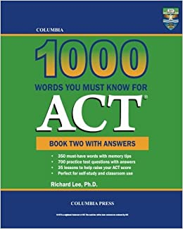 Columbia 1000 Words You Must Know for ACT: Book Two with Answers (Volume 2)