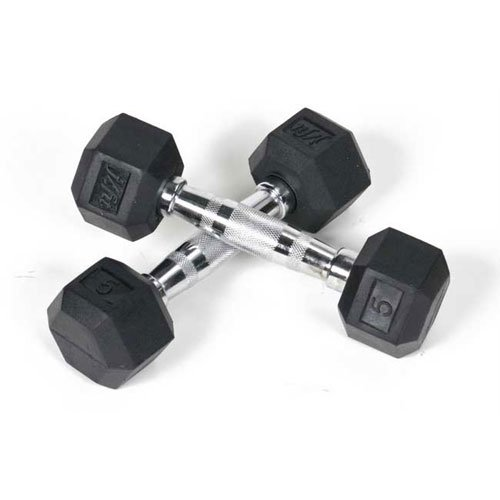 j/fit Rubber Hex Dumbbell Set - 7 lbs. Dumbbell Set