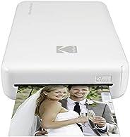 Kodak Mini 2 HD Wireless Portable Mobile Instant Photo Printer,Basic, Blanco