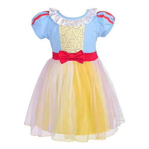 Dressy Daisy Princess Snow White Dress for Toddler Girls Halloween Fancy Party Costume Dress Size 4T 148]()