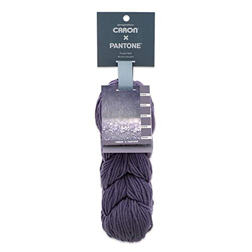 Caron x Pantone Acrylic & Merino Wool Blend Yarn •• 5 Identical Links in 1 Braid (Purple Mist 291101-01024)