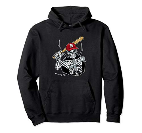 Halloween Baseball Player Batter Skeleton Scary Hoodie for $<!--$39.99-->