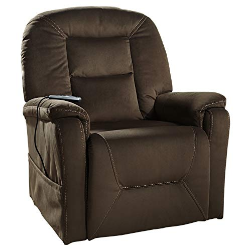 (Signature Design by Ashley 2080112 Samir Power Lift Recliner, Coffee)