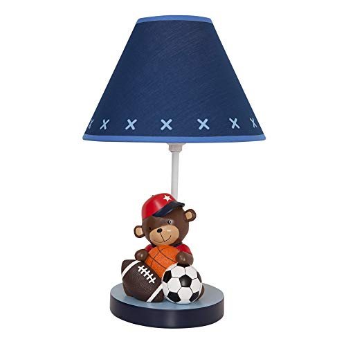 Lambs & Ivy Future All-Star Lamp with Shade and Bulb (Lamp Baby Boy Shade)