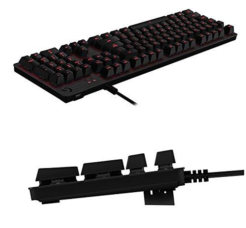 Logitech G413 Backlit Aluminum Mechanical Gaming Keyboard with USB Passthrough -International Version- EN/KR Layout (Silver) by Logitech (Image #3)