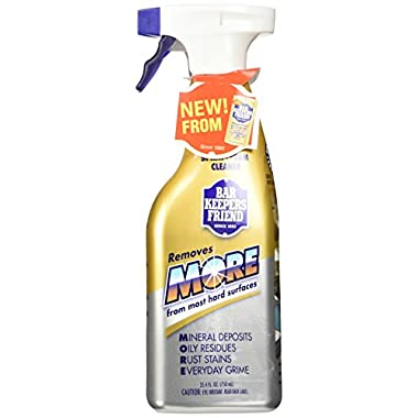 (2 Pack) Bar Keepers Friend NEW trigger Spray + Foam Cleaner for Stainless Steel / Tile / Porcelain / Ceramic / Aluminum / Copper / Brass / Chrome / Glass, 25.4 Oz.