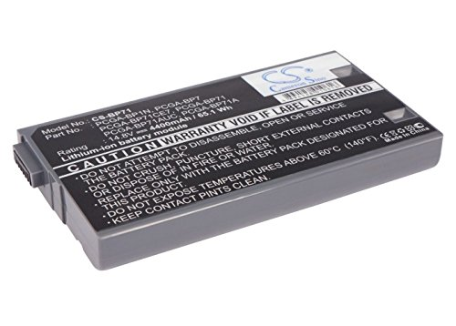Cameron Sino 4400mAh Li-ion High-Capacity Replacement Batteries for Sony PCG-QR10 , fits Sony PCGA-BP1N, PCGA-BP7