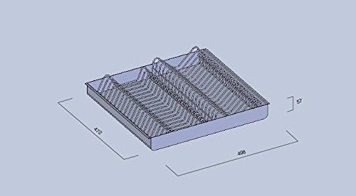 lami CASSETTO Acciaio Inox Porta Piatti Modello 60