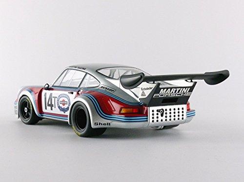 Norev - 187426 - Porsche 911 RSR Turbo 2.1 - Test SPA 1974 - Escala 1/18 - Plata/Rojo/Azul: Amazon.es: Juguetes y juegos