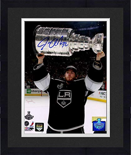 Framed Jonathan Quick Los Angeles Kings Signed Holding Stanley Cup 16x20 Photograph - Steiner Sports Certified
