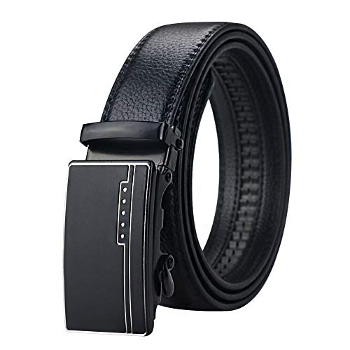 Maikun Belts for Mens, Mens Leather Belt, Adjustable Automatic Belts for Mens Leather Formal Casual