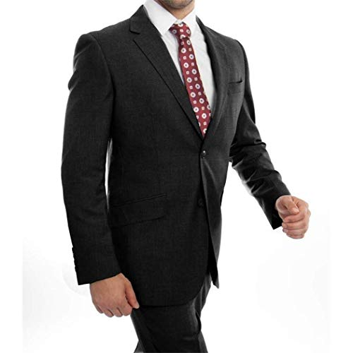 Classic Fit Wool Suit New with Notch Lapels(52L/46Waist Regular) ()