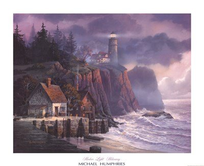 Harbor Light Hideaway by Michael Humphries - 32x26 Inches - Art Print Poster