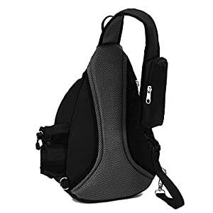 YUOTO Sling Backpack One Strap Crossbody Rope Sling Shoulder Bag Women Men black