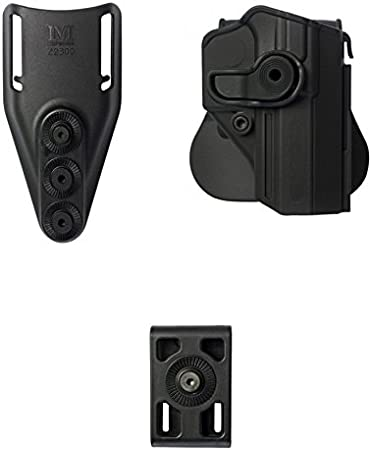 IMI Defense Z1300Jericho/Baby Eagle PS Retention Roto Polymer Pistol Handgun Holster + Tactical Low Ride Belt Loop + Belt Attachment