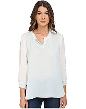 Calvin Klein Jeans Women's Mixed Media Long Sleeve Sport Tee