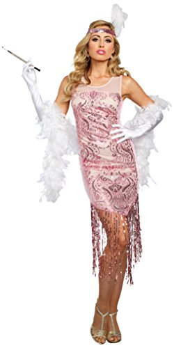 Dreamgirl Women's Miss Daisy, Pink, X-Large - Daisy And Gatsby Halloween Costume