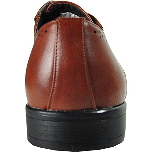 Zapato De Vestir Bravo Hombre King-2 Oxford Clásico Con Forro De Cuero Marrón