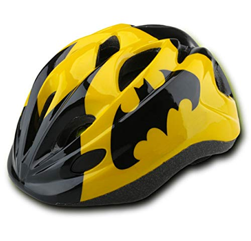 Kids Yellow-Black Bicycle Bike Cycling Helmets Tail Warning