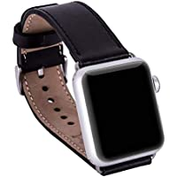 Barchello Apple Watch 38mm Deri Kordon Kayış -Siyah